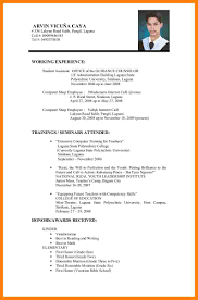 Sample Student Resume For College Application 5 Resume Samples For Job Application Ats Resuming
