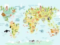 weltkarte für kinderzimmer drucke plakate weltkarte tierwelt für kinder 90 cm x 60 cm
