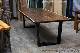 slab dining room table dining room inspiring live edge dining table for ontario canada