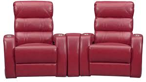 home theater loveseat recliners bravo 3 piece power reclining home theater sectional red value