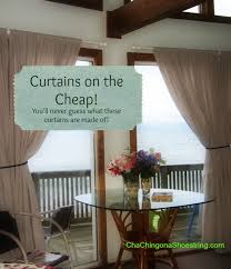 In Store Curtains The Dollar Store Curtains On The Cheap Cha Ching On A
