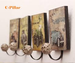 vintage wall metal coat decorative hooks classic rustic single