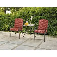 Small Patio Furniture Set by Mainstays Ashwood Heights 3 Piece Bistro Set Walmart Com