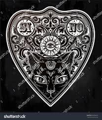 Vintage Halloween T Shirts Vintage Magic Ouija Board Oracle Black Stock Vector 698304424