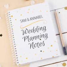 wedding planner notebook personalised notebook wedding planning notes gettingpersonal co uk