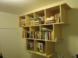 wooden wall mounted shelf in espresso color for hallway bookshelf