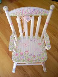 personalized child s white rocking chair baby within chairs for