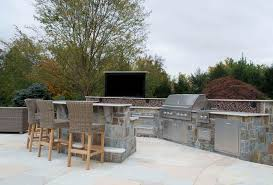 outdoor kitchen backsplash luxury outdoor kitchens patio traditional with attached bar