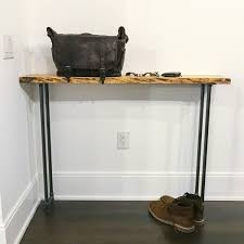 Entrance Table by Rustic Wood Console Table Live Edge Wood Entrance Table