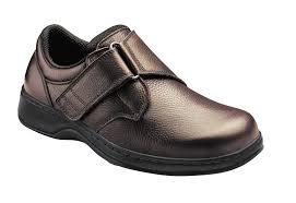 orthofeet 520 broadway mens comfort shoe velcro brown diabetic