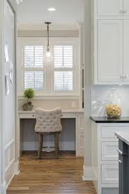 pantry ideas for kitchens walk in pantry with desk and plantation shutters cottage pantry