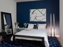 white and black abstract painting for small bedroom decorating