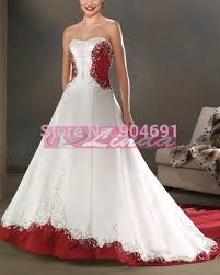 plus size wedding dresses with red accents best floral wedding