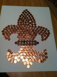 Fleur De Lis Canisters For The Kitchen Fluer De Lis Made Out Of Pennies The Put In A Frame Great For