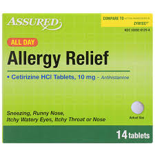bulk assured all day allergy relief tablets 14 ct packs at