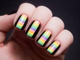 31dc2012 day 12 stripes chalkboard nails nail art blog