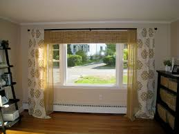 living room window treatments for large windows with bamboo shades
