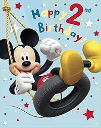 mickey mouse birthday mickey mouse happy 2nd birthday large birthday card