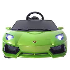 slowest lamborghini amazon com lamborghini aventador kids 6v electric battery powered