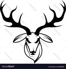 Deer Head by Deer Head Design Template Royalty Free Vector Image