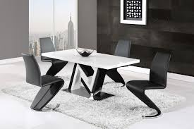 dining table d4163dt black u0026 white hg by global furniture