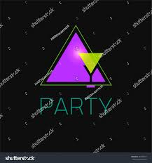 abstract geometric logo design neon on stock vector 284738915