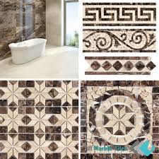 simple mosaic marble tiles bathrooms design decorating fancy to