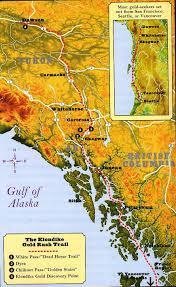 Alaska Inside Passage Map by During The Alaskan Klondike Gold Rush 1897 1898 Potatoes Were