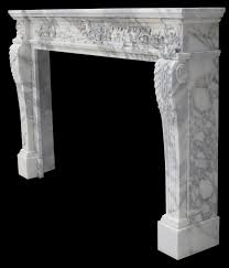 capri italian arabesco marble decorative fireplace