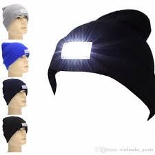 running hat with lights snapback hats led light cap beanie hat with 2 batteries for hunting