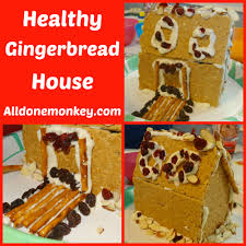 healthy gingerbread house all done monkey