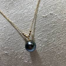 freshwater pearl necklace pendant images Mysterious rare tahitian black pearl pendant natural freshwater jpg