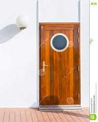 Wooden Door Wooden Door With A On A Cruise Ship Stock Photo Image 75335858
