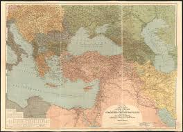 World War One Map by General Map Of The Turkish War Theater In World War 1 By Heinrich