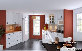 kitchen red line accent coloring for small kitchen design ikea