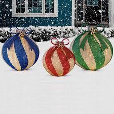 large indoor outdoor pop up ornaments 3 baubles