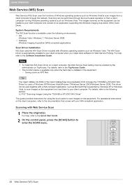 web service ws scan toshiba e studio multifunctional digital