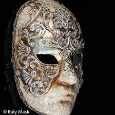 silver masks masquerade mask volto macrame silver