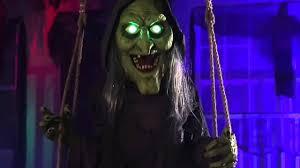 lil nester spirit halloween swinging swamp hag spirit sneak peeks 2015 youtube