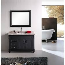 Espresso Bathroom Vanity Design Element Hudson 48