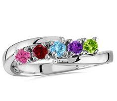 2 mothers ring grab 2 mothers rings silver ring birthstone mothers ring