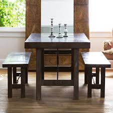 overstock dining room tables pottery barn benchwright fixed dining room table and bench copycatchic