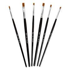 6pc uv gel acrylic nail art brushes u2013 bundle monster