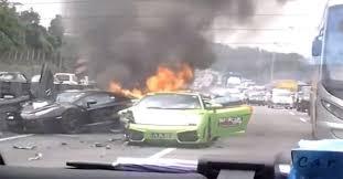 3 lamborghinis wreck in most expensive car crash ever u2013 america