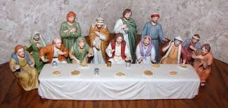 Home Interiors Figurines by Last Supper Porcelain Figurine Set By Home Interiors Twc