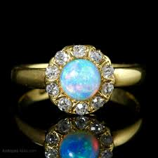 turquoise opal engagement rings antiques atlas victorian opal diamond ring 18ct gold