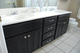 how to paint oak bathroom cabinets black nrtradiant com