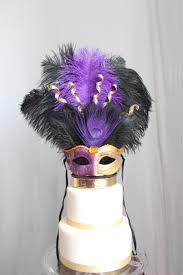 peacock mardi gras mask mardi gras masquerade carnival mask cake topper purple and gold