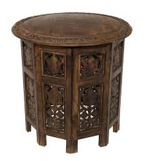 Accent Coffee Table Cotton Craft 20036 Jaipur Solid Wood Hand Carved Accent Coffee