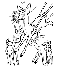 movie adaptations 13 christmas reindeer coloring pages